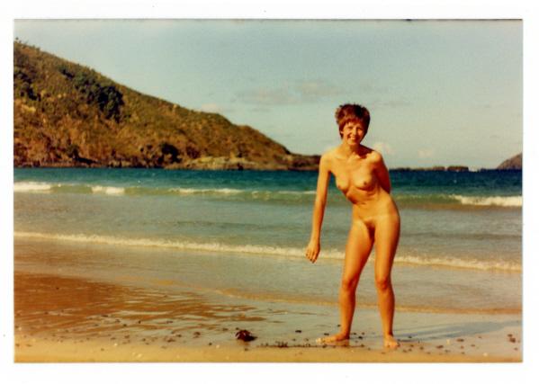 Modesty Ablaze on the beach 1982